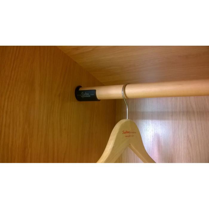 Barra colgar armario for Barra para armario sin agujeros