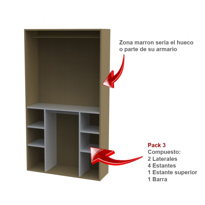 Estantes para armarios - Estantes para armarios empotrados ...